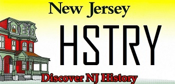 Discover NJ History License Plate