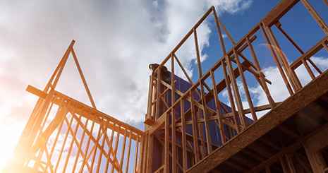Photo of wood framed construction