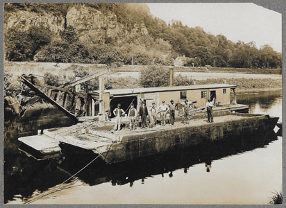 When the bridges, locks or other structures of the canal needed repairs, a work scow or shanty boat was dispatched to the site.  If the work was not urgent, the repairs were completed during the winter months when the canal was closed and partly drained.