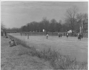 In addition to being closed at night and on Sundays, the Delaware and Raritan Canal was closed and partly drained during the winter months.  While the seasonal closure handicapped the canal in its competition with the State's railroads, it did provide a source of recreational activity for the surrounding communities.