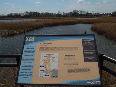 sign explaining the Rahway River