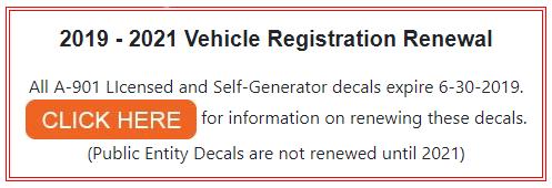 Vehicle Registration Unit Home Page