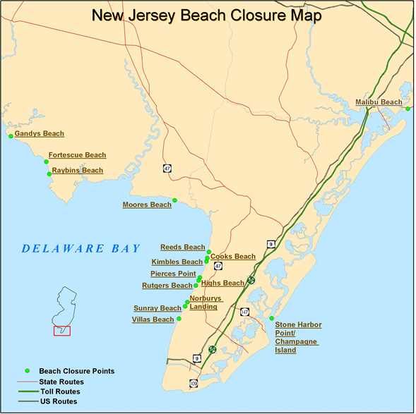 NJDEP Division of Fish Wildlife Seasonal Delaware Bay and