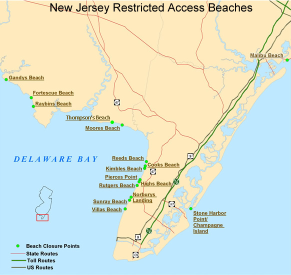 Njdep Division Of Fish Wildlife Seasonal Restricted Access Maps