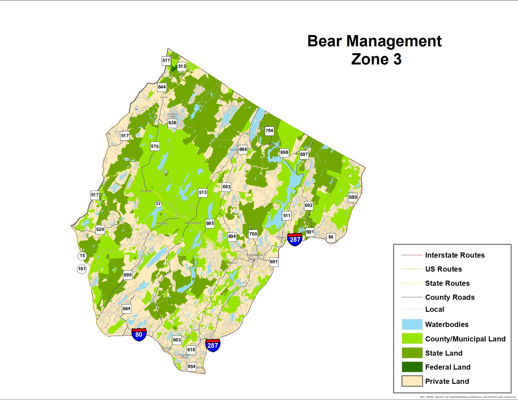 Njdep Division Of Fish Wildlife Black Bear Hunt Zones