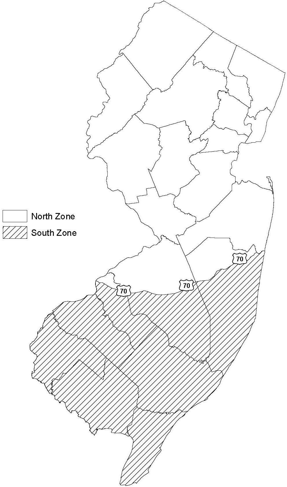 NJDEP Division of Fish  Wildlife  Migratory Bird Hunting Zones