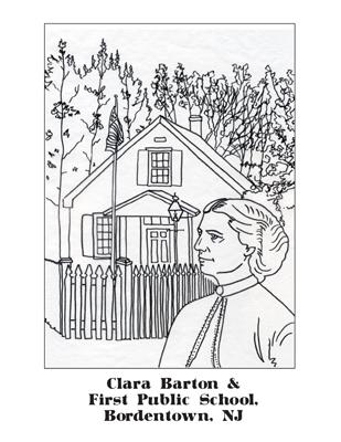 clara barton coloring pages free - photo#29