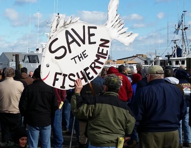 Fishing Rally Sign