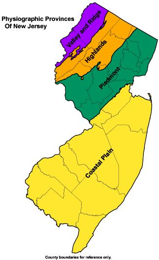 Njdep New Jersey Geological And Water Survey Dgs02 7 - Us-physiographic-regions-map