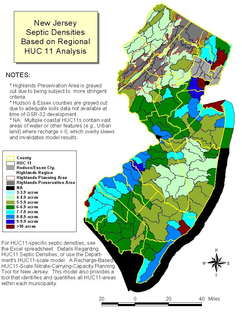 NJDEPWater Quality Management PlanningRules Guidance - New jersey area code map