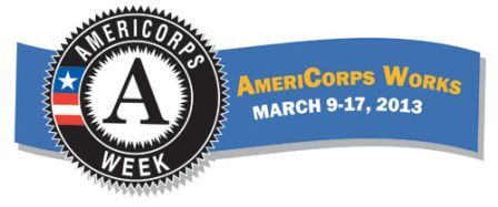 Logo for AmeriCorps week 2013.