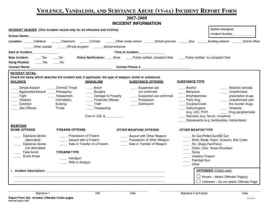 HIPAA Security Incident Report Form http://www.nj.gov/education ...