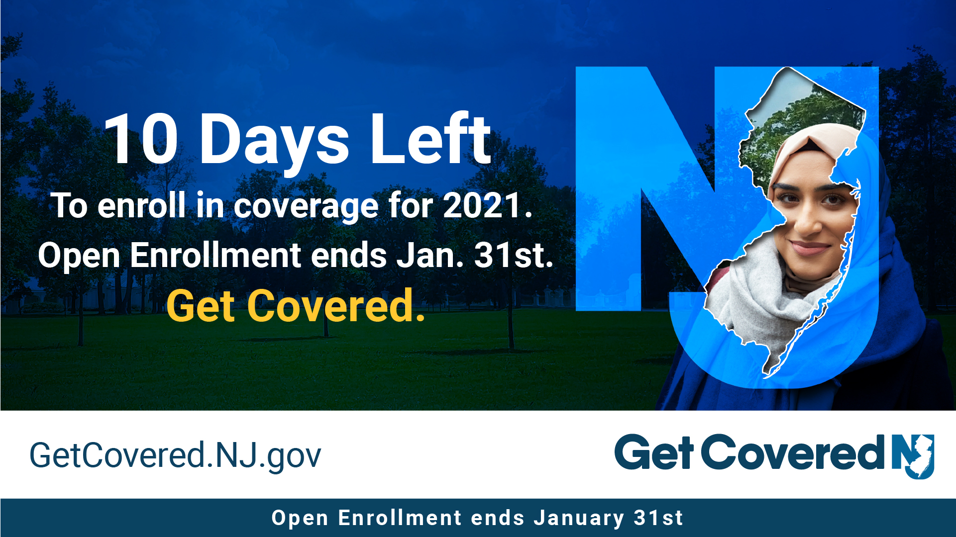 Image Contains screenshot of 10 Days left to enroll in coverage