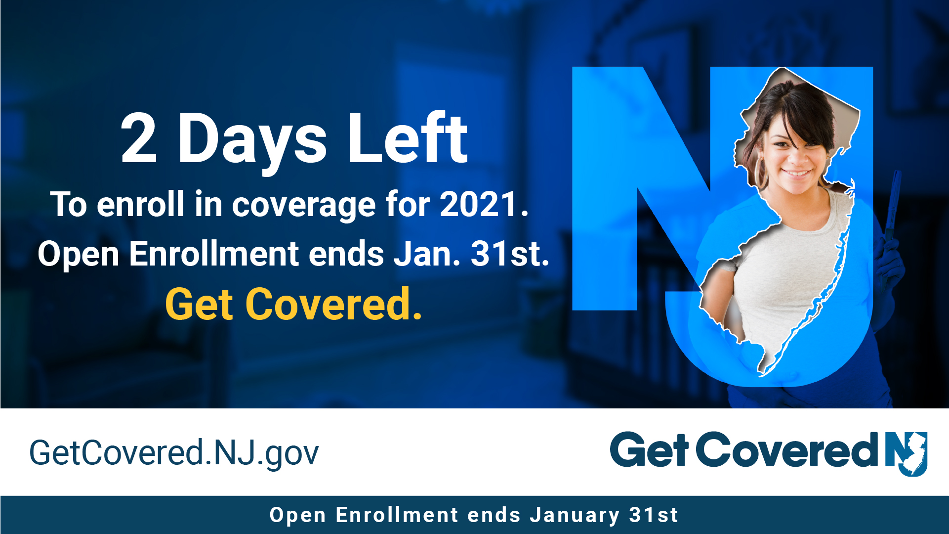 Image Contains screenshot of 2 Days left to enroll in coverage