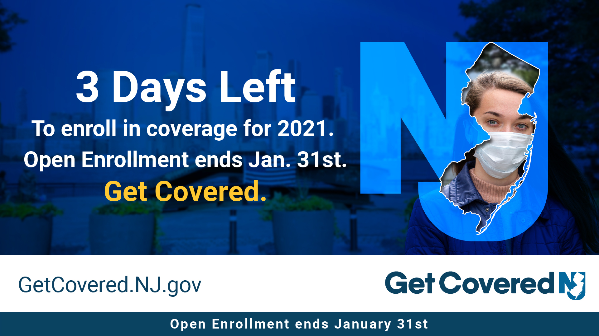 Image Contains screenshot of 3 Days left to enroll in coverage