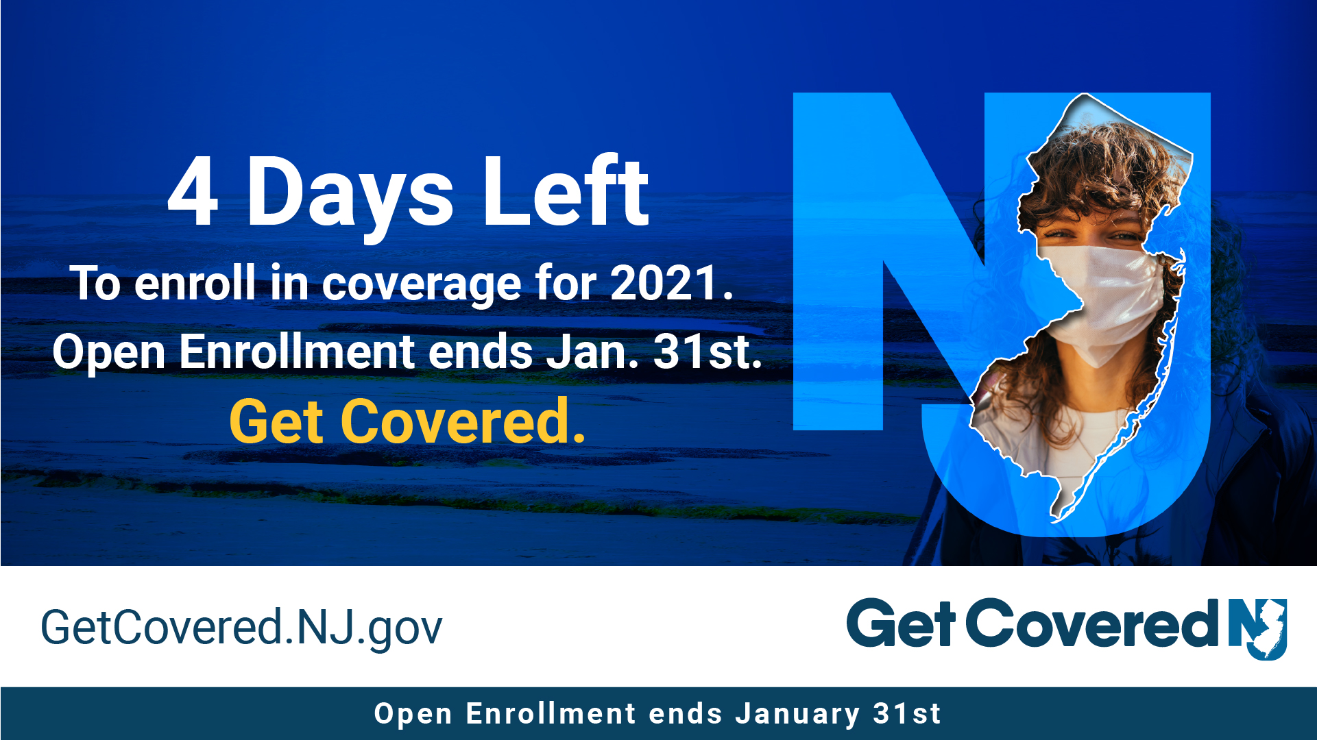 Image Contains screenshot of 4 Days left to enroll in coverage