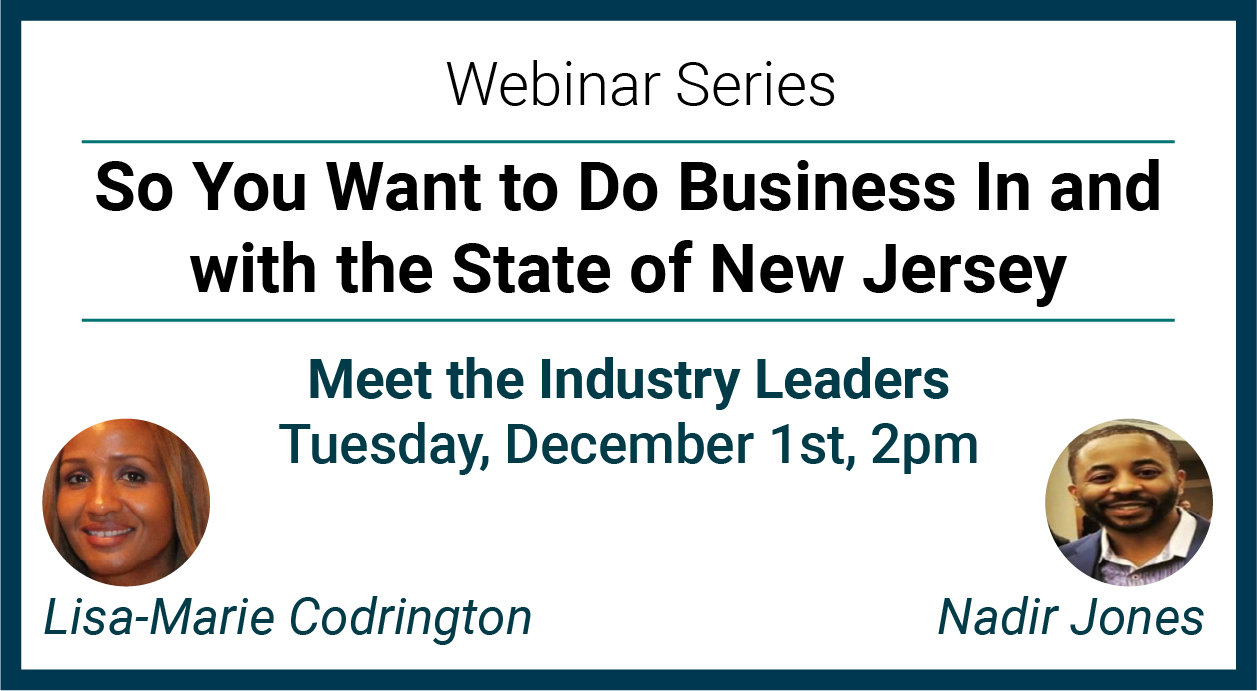 Meet the Industry Leaders - Thursday December 3rd at 2PM-  Kiran Muppalla New Jersey Transit