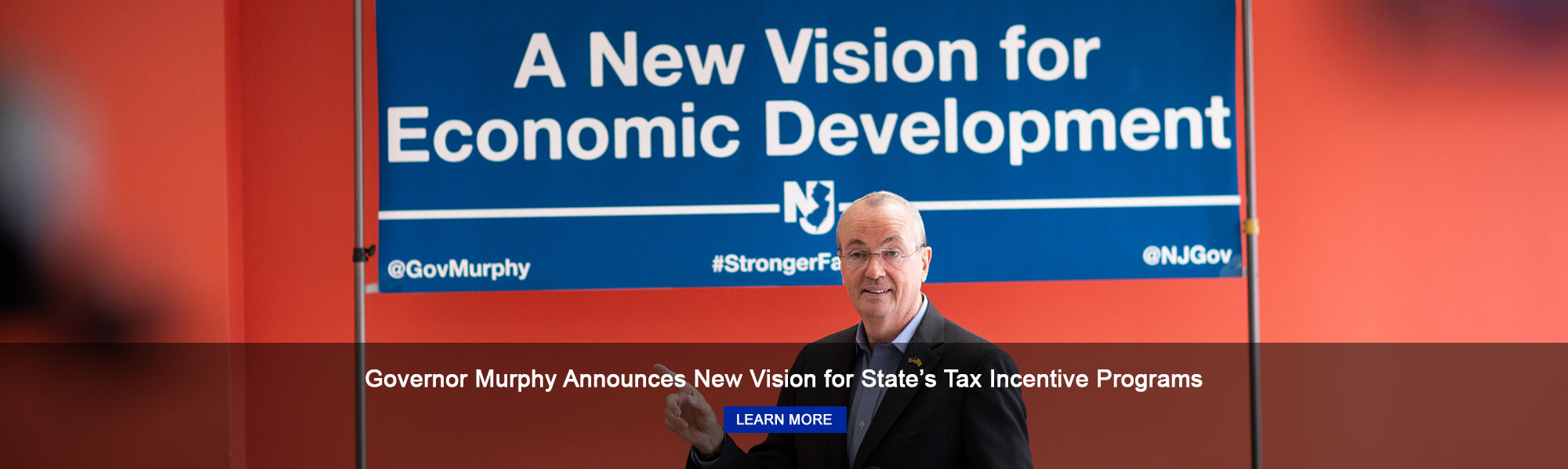 Governor Murphy Announces New Vision for State's Tax Incentive Programs