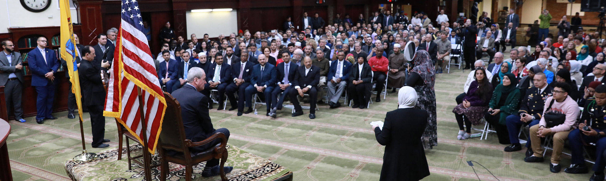 the first town hall meeting with a governor at a mosque in the history of New Jersey.