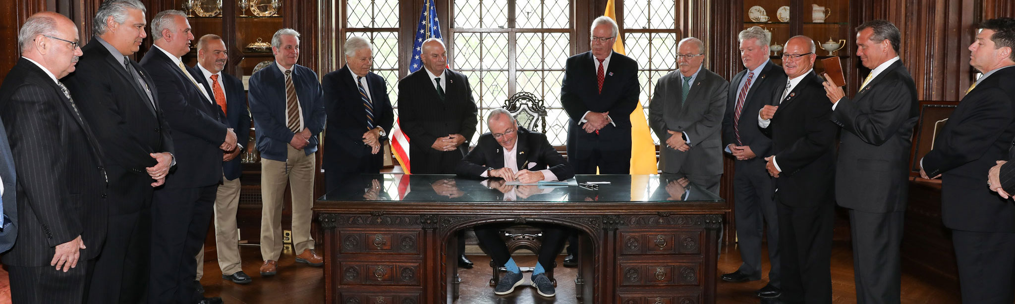 Governor Phil Murphy signing S3129 into law