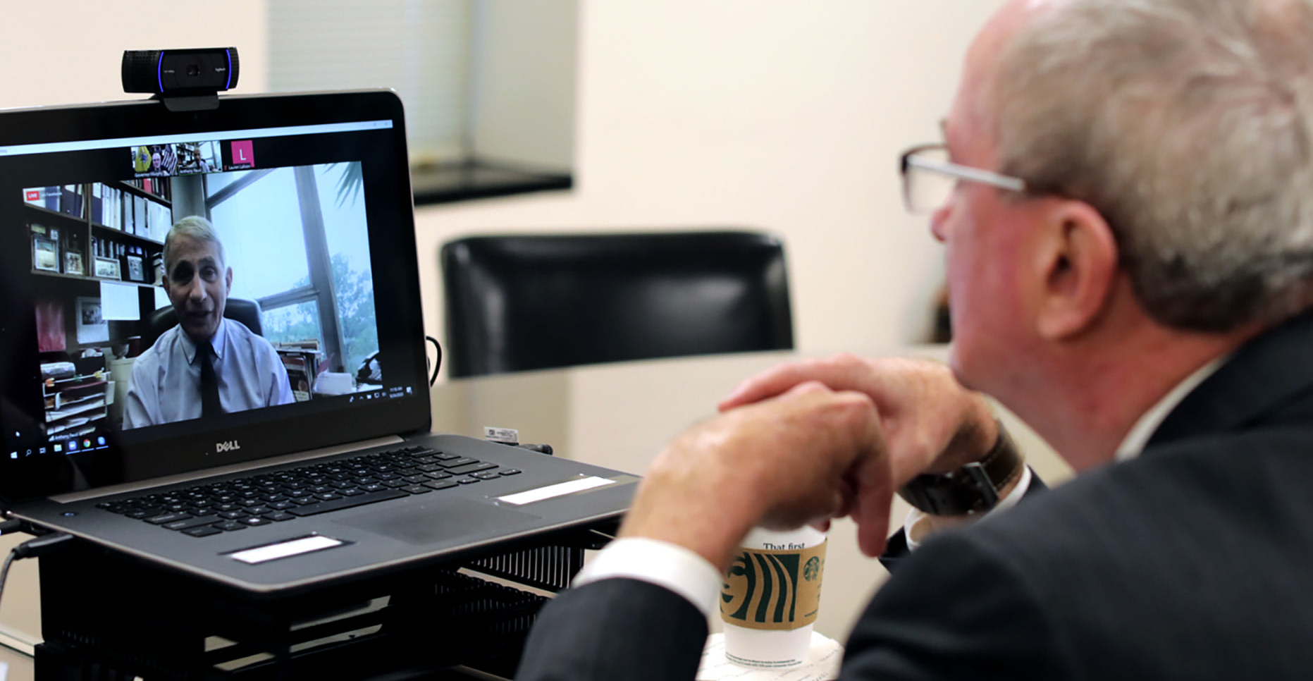 image contains:  Governor Murphy Hosts Facebook Live Conversation with Dr. Anthony Fauci