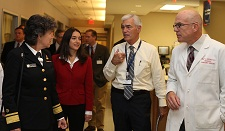 Photo of Commissioner O'Dowd at Jersey Shore University Medical Center
