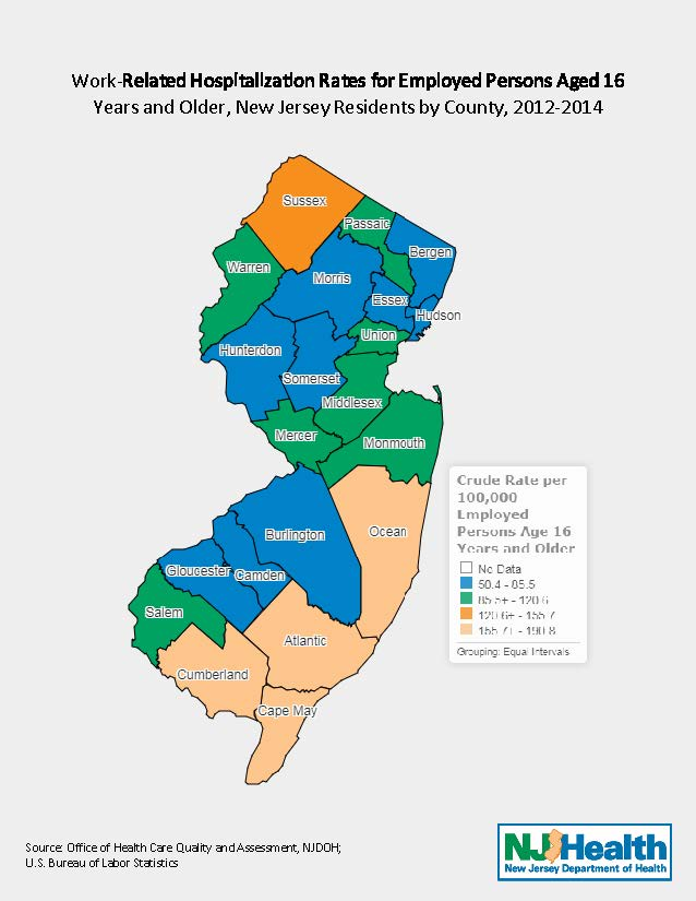Department of health workplace health and safety new jersey number and rate of work related hospitalizations pdf 269k map gumiabroncs Gallery