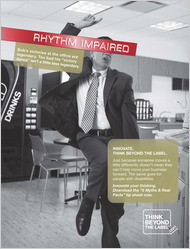 rhythm impaired worker in humours TBTL ad