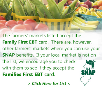 Famer's Markets and EBT cards