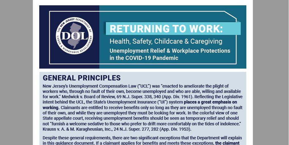 thumbnail of the return to work guidelines PDF
