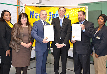 Commissioner Aaron R. Fichtner, Ph.D., and Assistant Commissioner Patricia Moran attend the Apprenticeship Collaboration Event at the Adult Learning Center in New Brunswick with our partners from US DOL and New Brunswick Schools during National Apprenticeship Week.