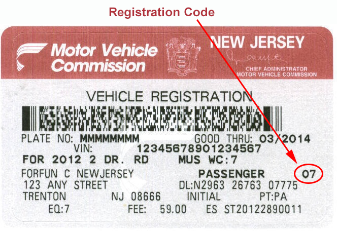 Nj car registration renewal frequency 11