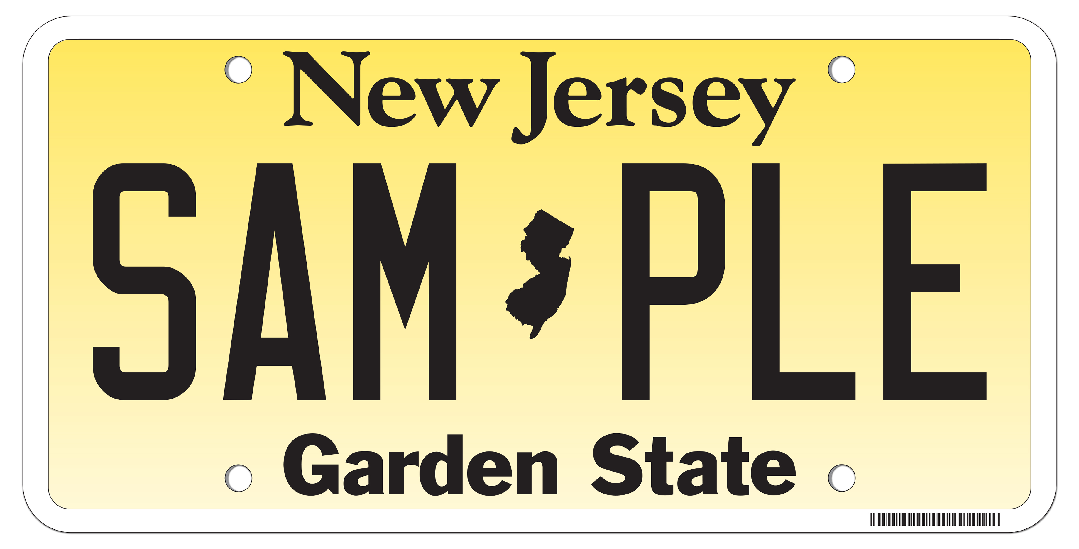 New jersey motor vehicle commission standard issue plates for Nj motor vehicle commission vehicle inspection station secaucus nj