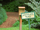 Entrance to the woodland trails