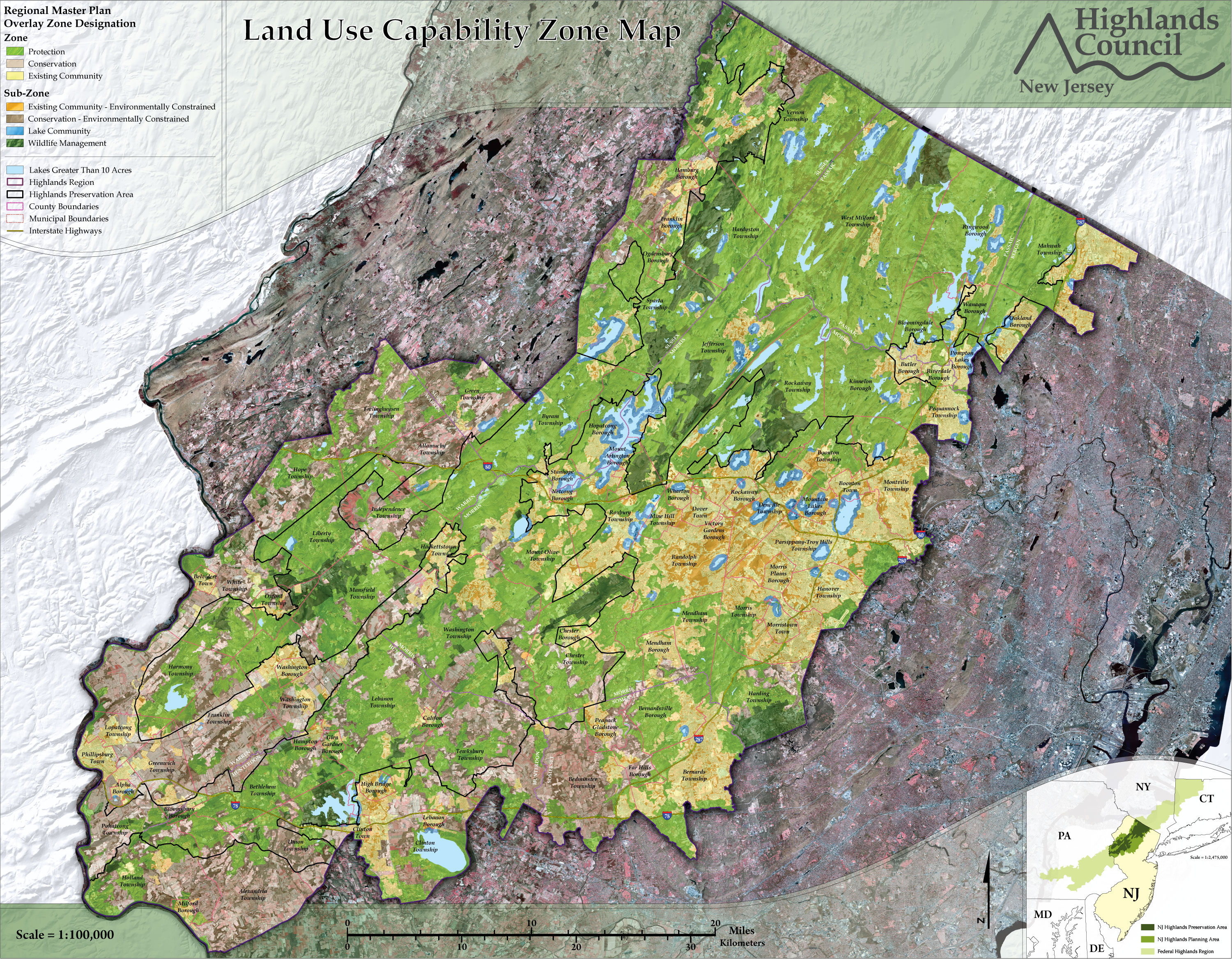 New Jersey Highlands Council | Municipalities and Counties