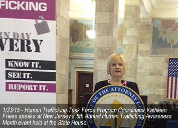 New Jersey's 5th Annual Human Trafficking Awareness Month Event