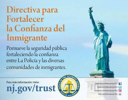 Directiva para fortalecer la confianza del inmigrante