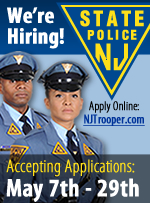 The NJ State Police is Hiring - Apply Online May 7th through May 29th