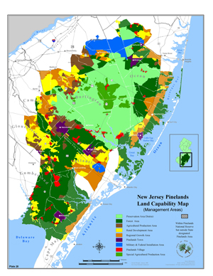 Nj Map With Counties And Cities, The Pinelands Commission Maintains The Following Maps, Nj Map With Counties And Cities