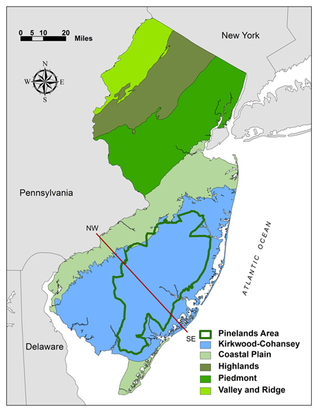 Nj Wetlands Map New Jersey Pinelands Commission | Kirkwood Cohansey Project