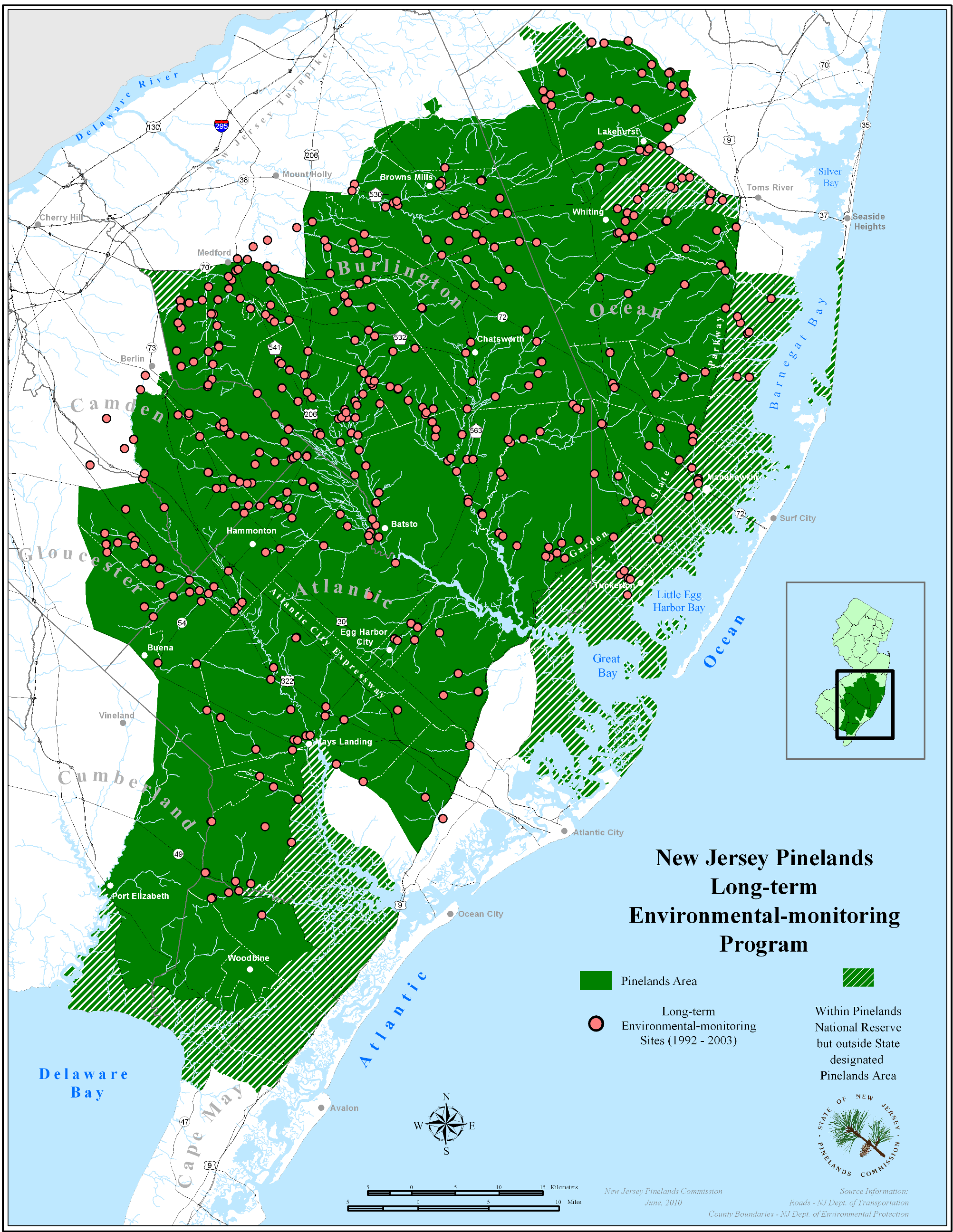 New Jersey Pinelands Commission | Environmental Monitoring