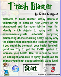 Trash Blaster Game Graphic