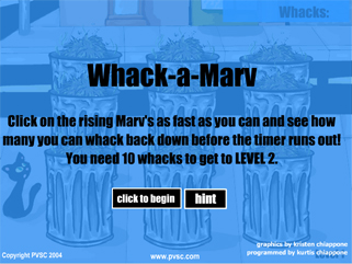 Whack - a - Marv graphic