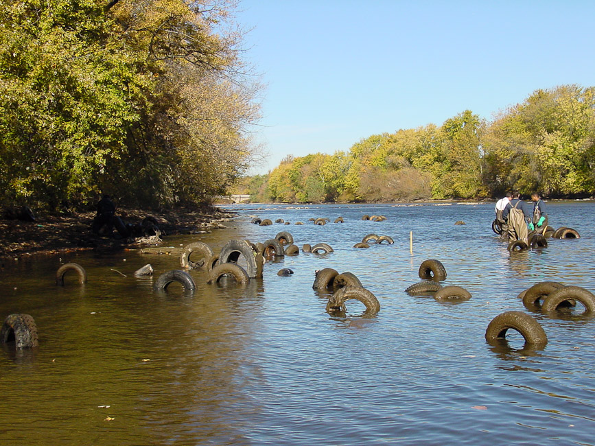 Indian Fish Weir Tire Cleanup