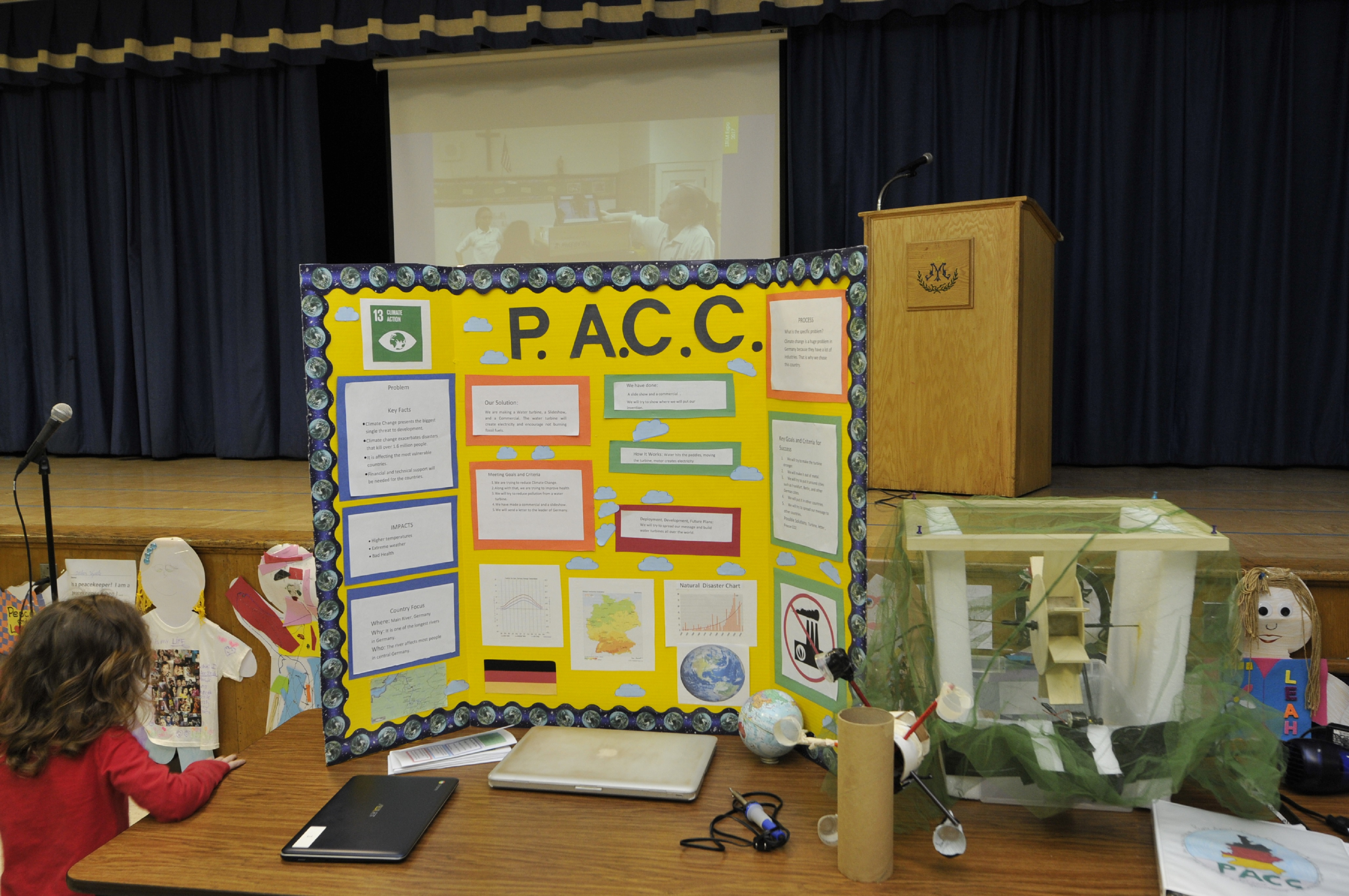 PVSC Participates In Queen Of Peace STEM Expo