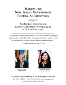 Manual for New Jersey Government Energy Aggregators