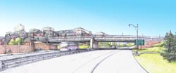 new street bridge looking north graphic