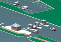 toll plaza rendering