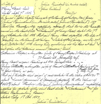 The application for probate of Henry Beck's will
