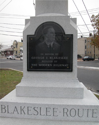 The George E. Blakeslee monument